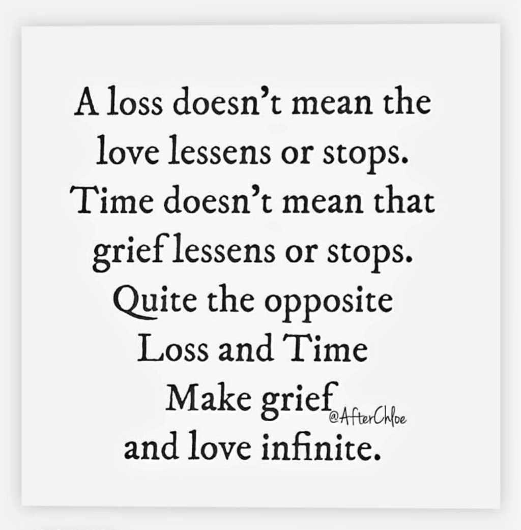 Beautiful words by @AfterChloe  #bereavement #loss #grief #love