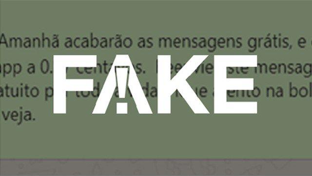 É #FAKE que WhatsApp passará a cobrar 37 centavos por envio de mensagens https://glo.bo/35xGQst #FatoOuFake