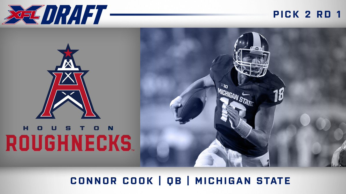 Connor Cook drafted 2nd overall in XFL skill player draft
