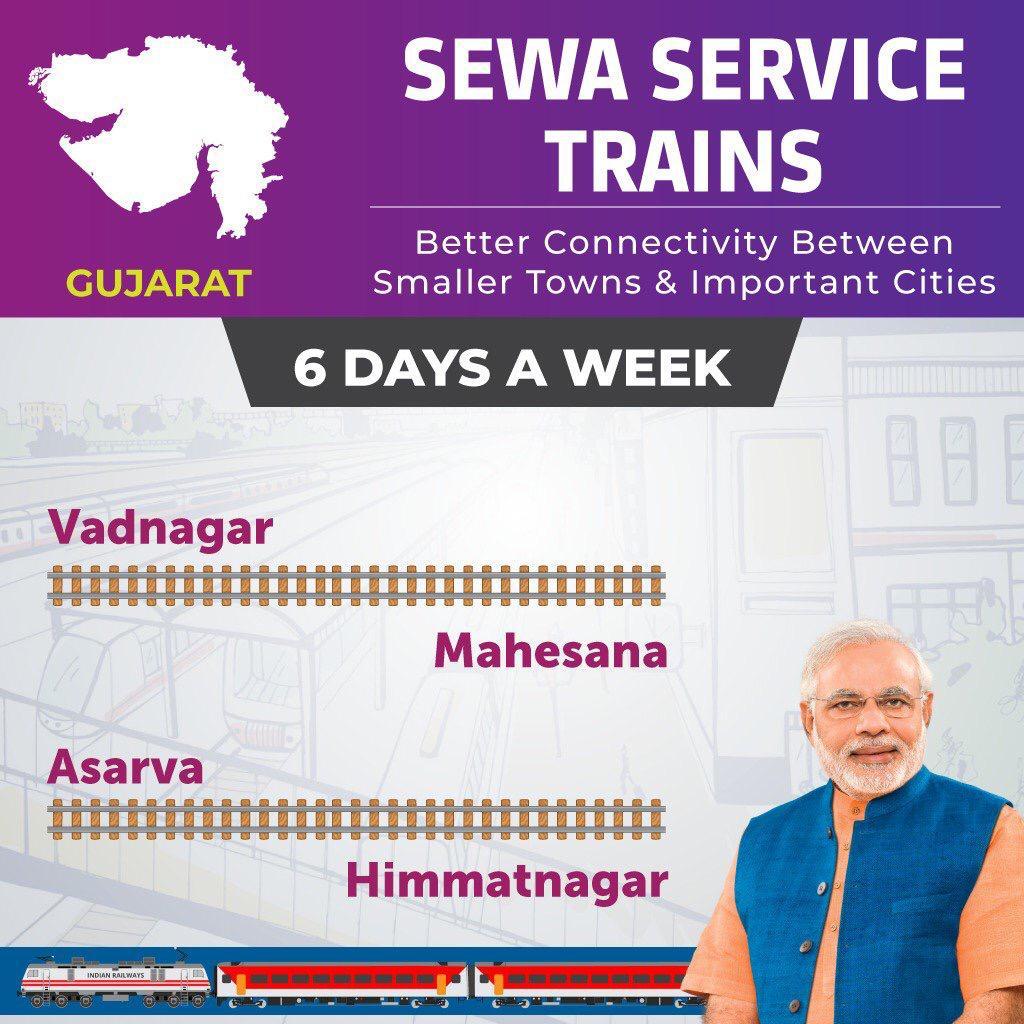 Vadnagar – Mahesana, Asarva – Himmatnagar DEMU trains launched