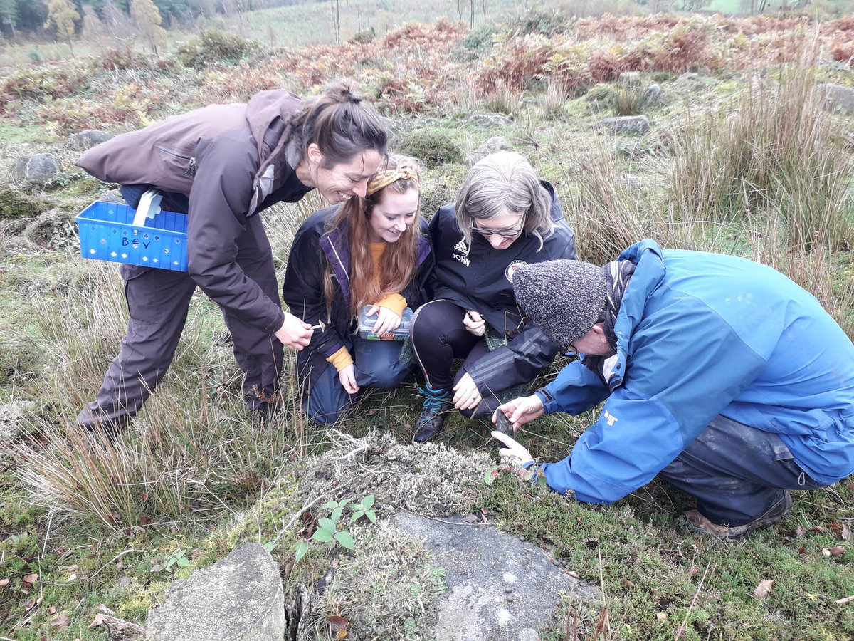 Field mycology training day for trainees at @DerbysWildlife @working4nature @ukfungusday