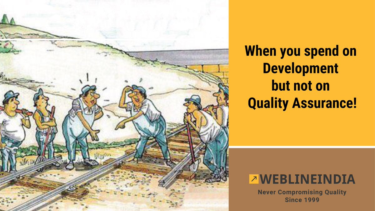 Do not compromise on QA. We never do. Always keep space for QA when you do Product Planning.  Keep following us for interesting takes on Software Development happenings.  #wowwebline #qa #qualityassurance #softwaredevelopment #productplan #productdevelopment  http://bit.ly/wlili-software-dev-qa