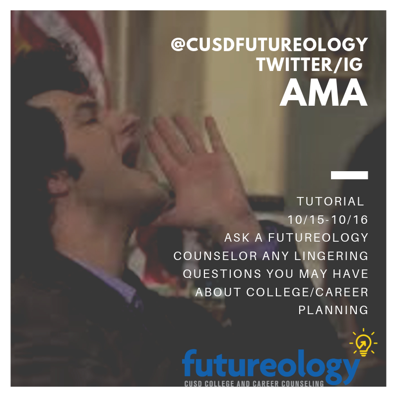 Hey @CapoValleyHS @Cvhs2020 don't forget today during you're #FutureFocused event today/tomorrow you can #AMA through this thread or via IG during tutorial. Remember Futureology  follow back<br>http://pic.twitter.com/yqB5Kzwf2H