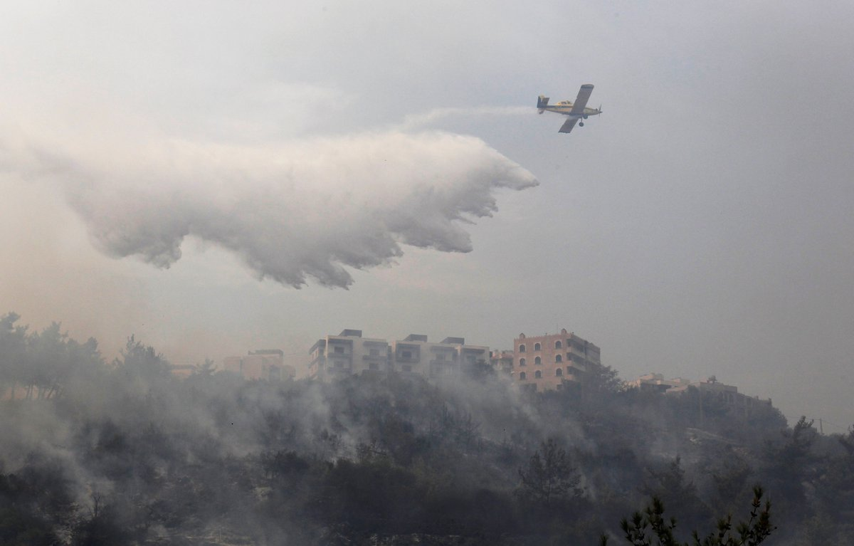Lebanon wildfires: Hellish scenes in mountains south of Beirut