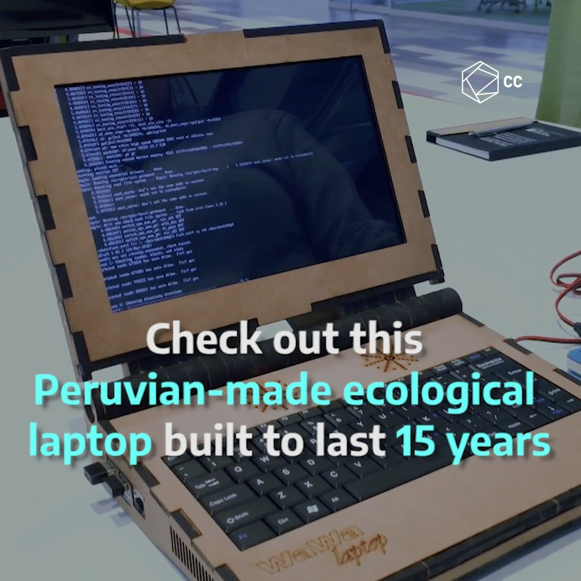 This wooden laptop was made in #Peru and is designed to last between 10 and 15 years  pic.twitter.com/WCeHowKbCq