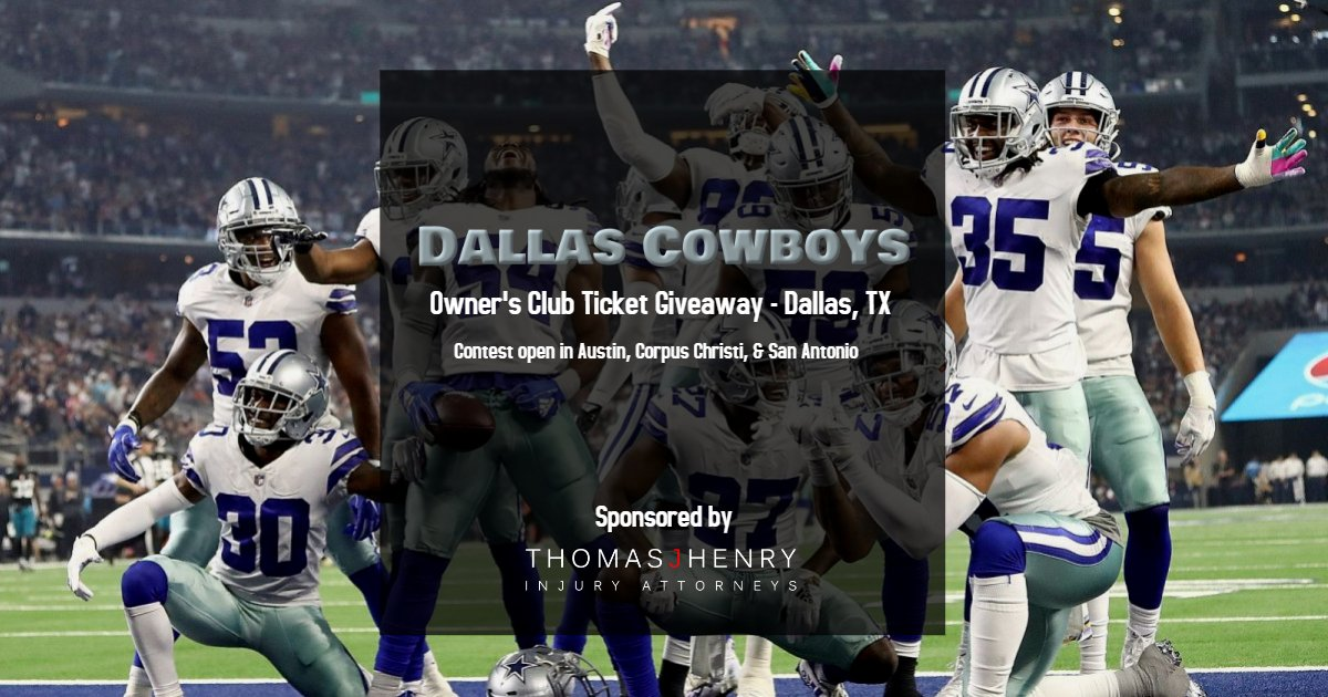 Enter now for your chance to win a family 4-pack of Owners Club tickets to see the Dallas Cowboys play against the Philadelphia Eagles on 10/20!  Here's how to enter: - FOLLOW us - LIKE & RT this post - TAG a friend  For additional entries, you can enter through our FB and IG! <br>http://pic.twitter.com/JEqy4J2IZp