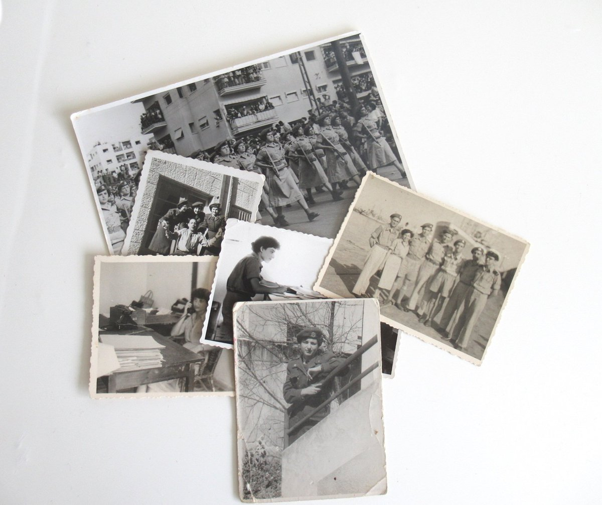 #Israeli Women Soldier 1950, Collectibles Vintage Photo Lot, Black And White Photographs Images, Different Sizes      #art #photography #blackandwhite #unframed #photolot #originalpictures #scrapbooking #Israeliana #1950 #womenPhotos