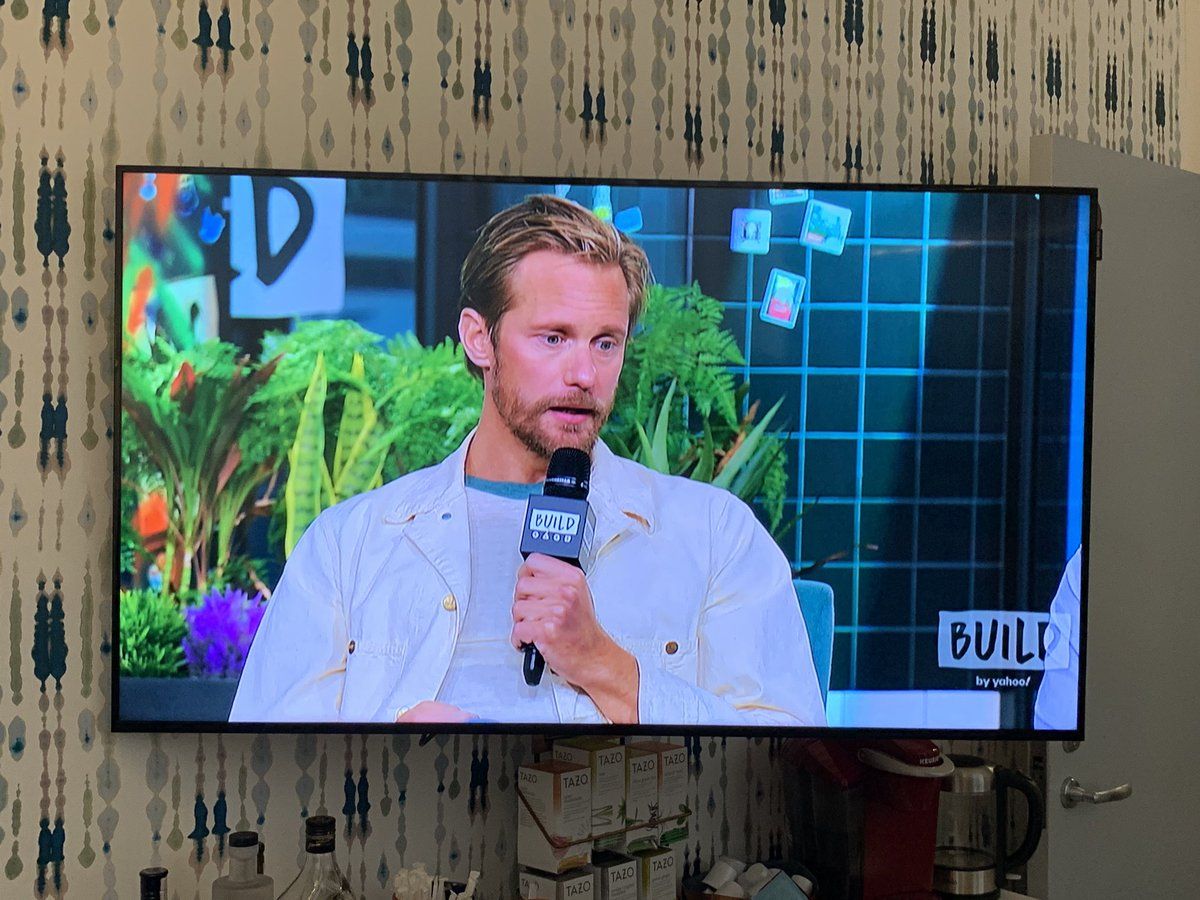 Spending today working the PR gig alongside Alexander Skarsgård, trying to take pointers on how to be handsome.