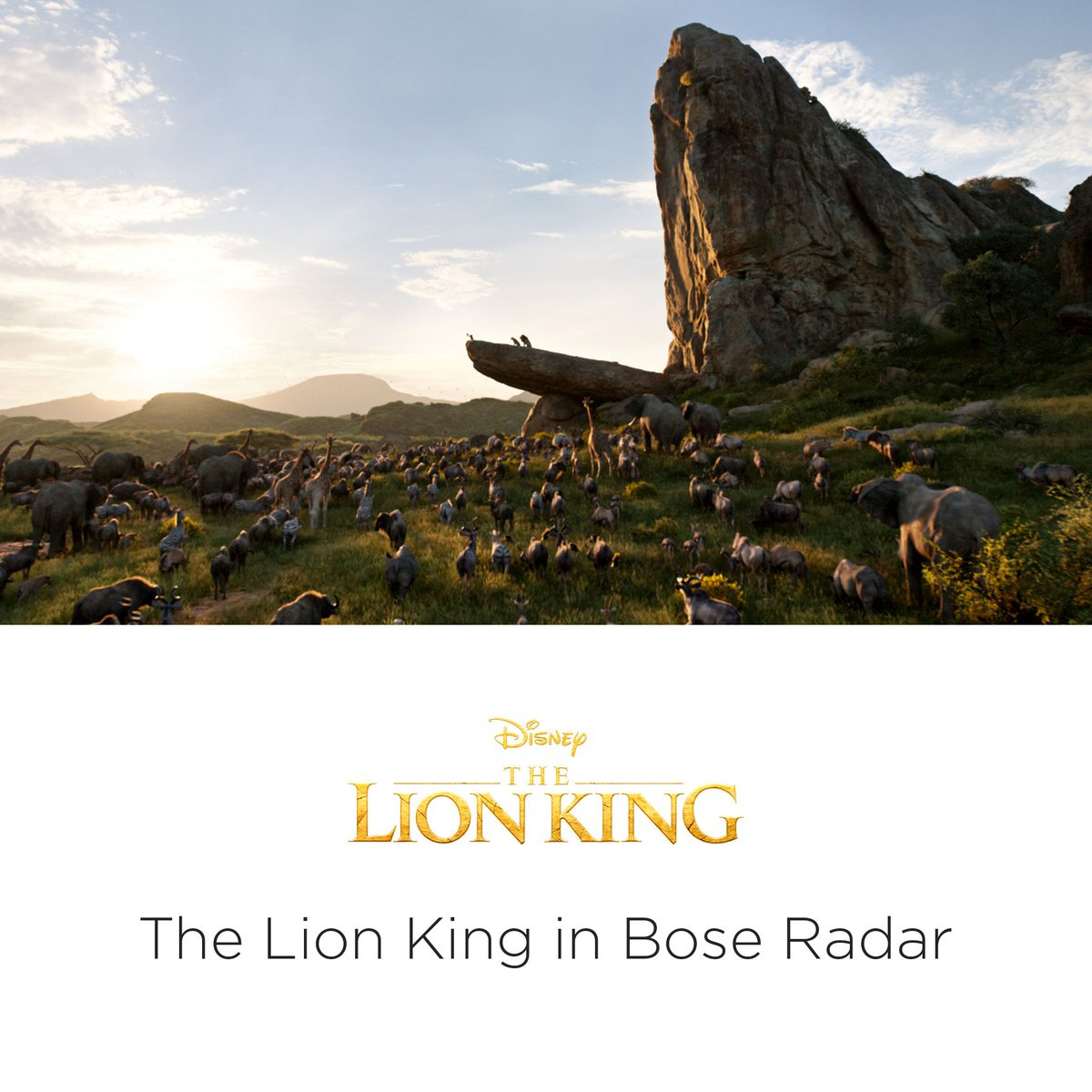 From the plains of Africa to your headphones, experience the magic of Disney's The Lion King in Bose Radar, out now for all Bose AR-enabled wearables. http://bose.life/2ONqGFp    The Lion King is available on Digital & Blu-ray™. Soundtrack available now. © 2019 Disney