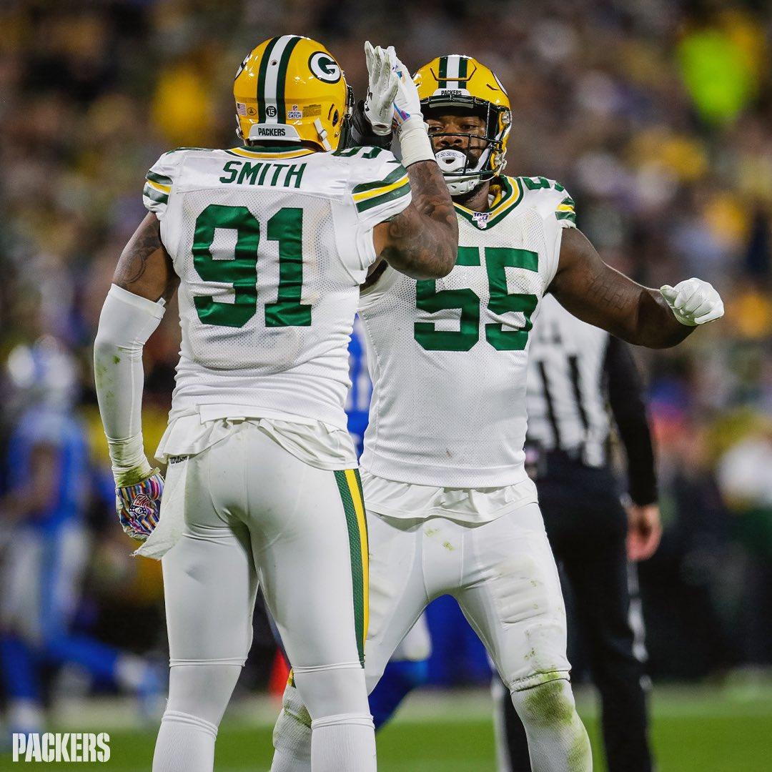 Preston Smith and Za'Darius Smith make team history in Packers' win over Lions