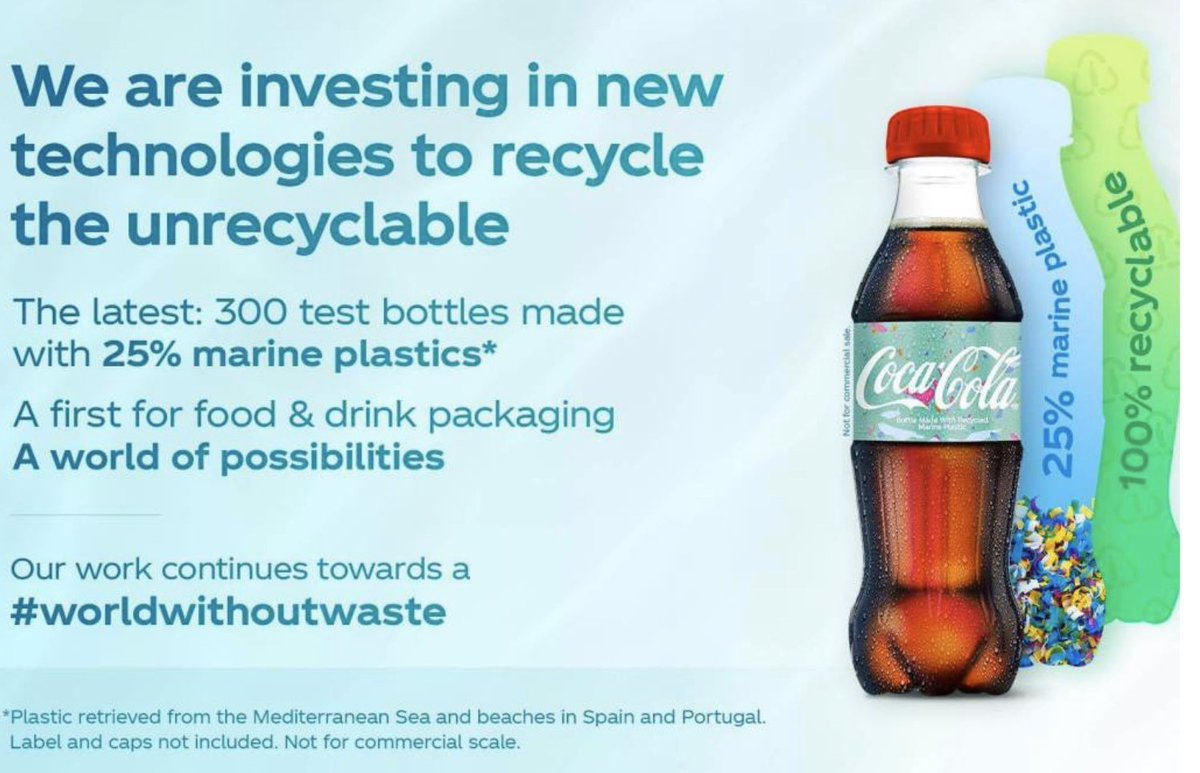 Coca-Cola Presents First Bottles Made From Ocean Waste Plastic. This can truly make a difference... <br>http://pic.twitter.com/SCYTfkgPRW