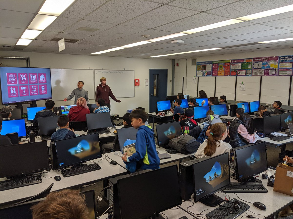 The @utschools Nintendo Switch @FUZEArena Coding Club started today! Students will learn to program games using the Fuze app and create online tutorials and resources for this new coding language that is a mix between Python and Basic. Easy to learn and powerful.
