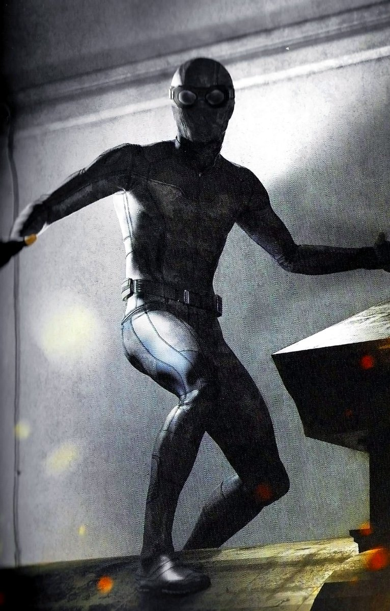 Alternate designs for the stealth suit in #SpiderManFarFromHome have been revealed in this official new concept art! See more here:  http:// bit.ly/2ps1OYQ    <br>http://pic.twitter.com/9uKtKXiL8b