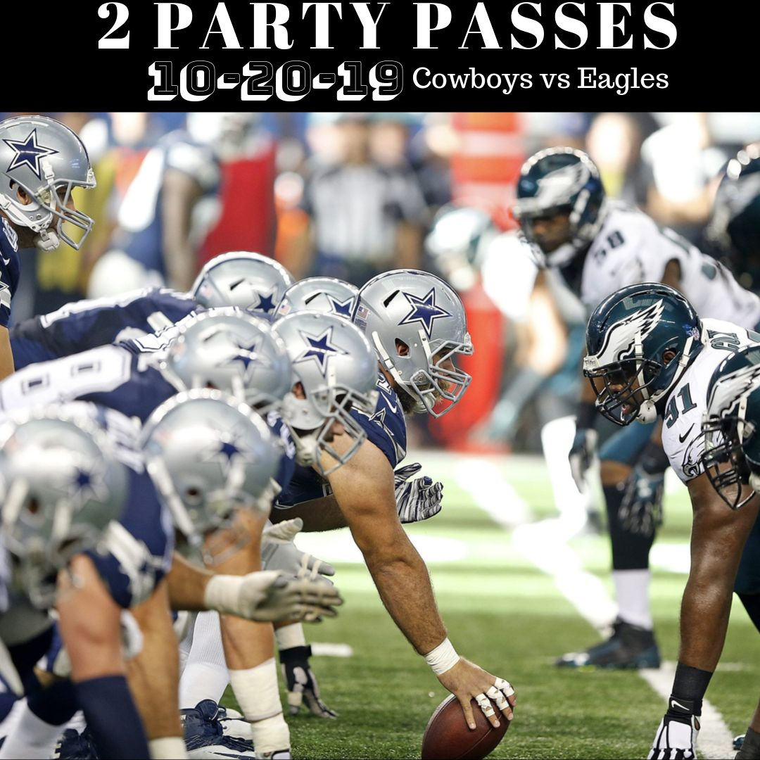 ENTER to win 2 FREE Party Passes to the Dallas Cowboys vs. Eagles on Sunday October 20, 2019 at 7:20PM at the AT&T Stadium!  TO QUALIFY YOU MUST: **FOLLOW our Twitter **LIKE this post **RETWEET this post **TAG 3 on this post <br>http://pic.twitter.com/cag6hipztA