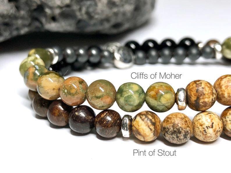 Irish stone bracelets