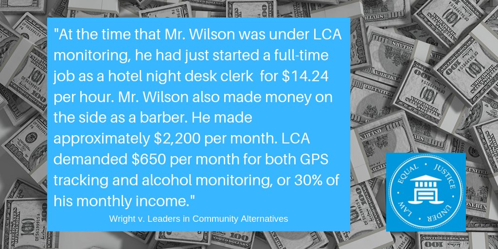 Private probation companies extort money from individuals involved in the criminal justice system. We're fighting against this criminalization of poverty. Read more about our ongoing case in California:  https:// buff.ly/2Q3qi7Q     #decriminalizepoverty #economicjustice <br>http://pic.twitter.com/uZw43CaWb2