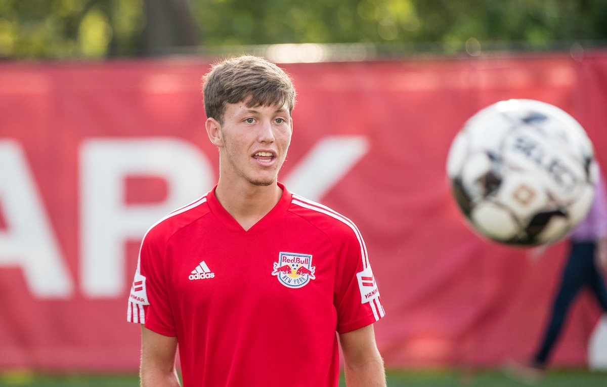 We have a first time starter on the field tonight 👏 Good luck, @BryceLeBel2! #NYRBII