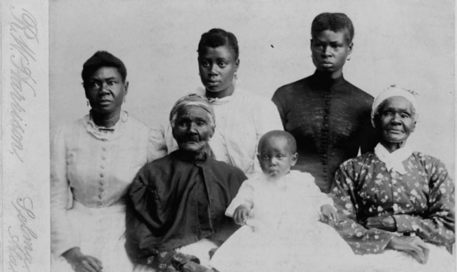 The Library of Congress can help with your genealogy searches. Check out these free-to-use pictures, maps & sources. This photo, for example, features six generations of a family in 1890s Selma, Alabama. blogs.loc.gov/loc/2019/10/fr…