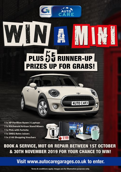 Fancy winning a mini?https://www.autocaregarages.co.uk/news/autocares-win-car-giveaway-returned/ … #competitiontime