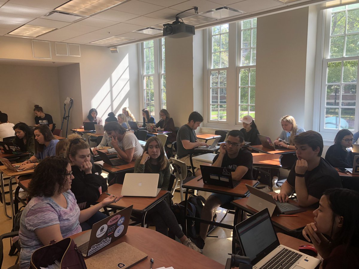 Research in action! Great work coming out of the teams. Aiming to understand who is using the makerspaces & barriers to participation. Thx to Anna for relaying her convos with @UNC_BeAM staff & their questions of interest. Awesome use of @SlackHQ to get it done! #uncpsyc530 #cure