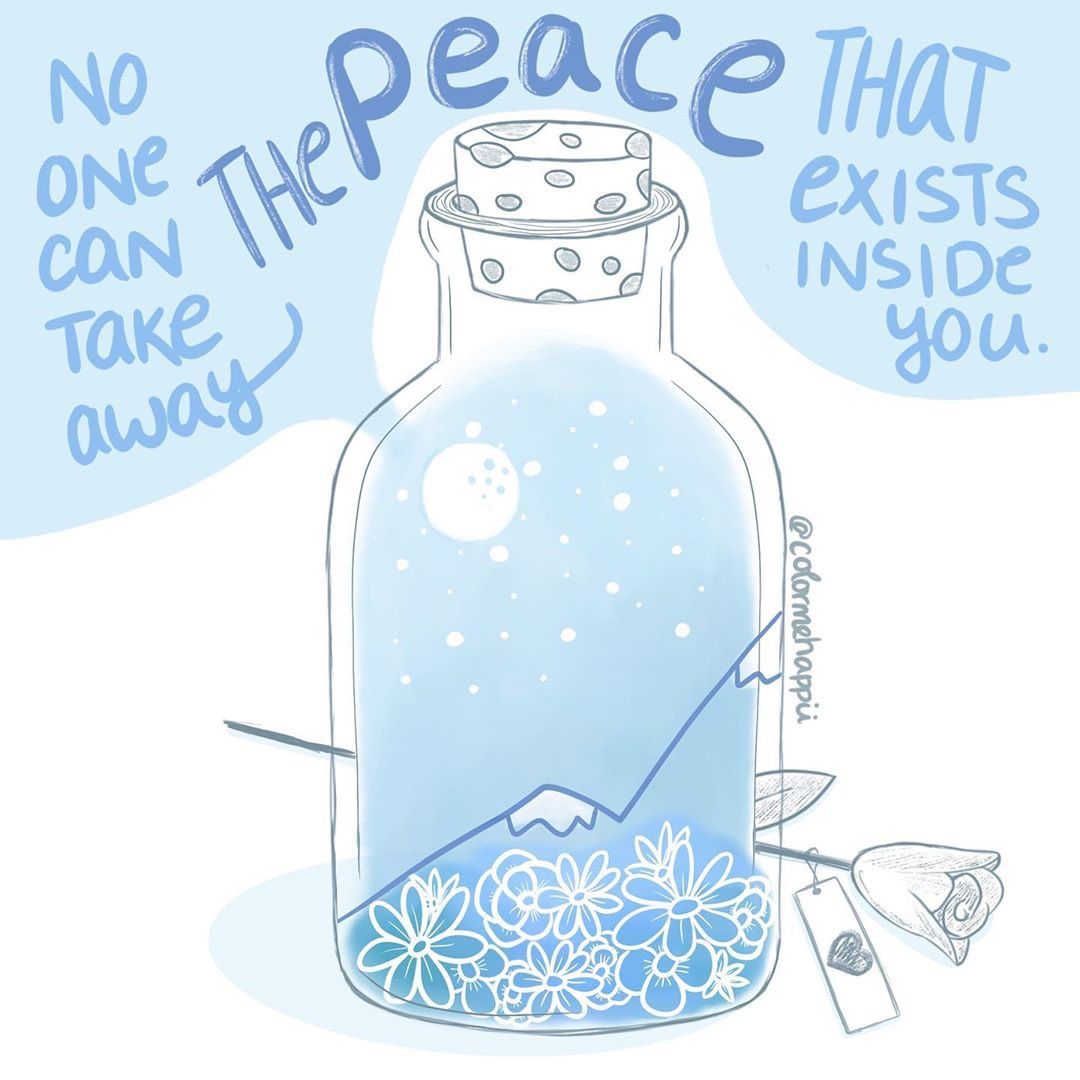 No one can take away the peace that exists inside you Image: @colormehappii