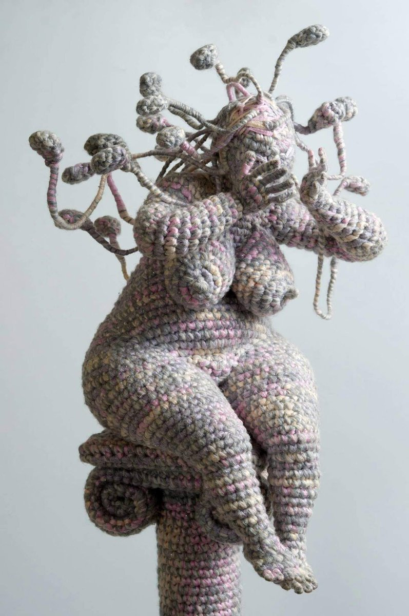 The Russian artist Yulia Ustinova is creating soft #sculptures from crochet with a sculptural form inside.