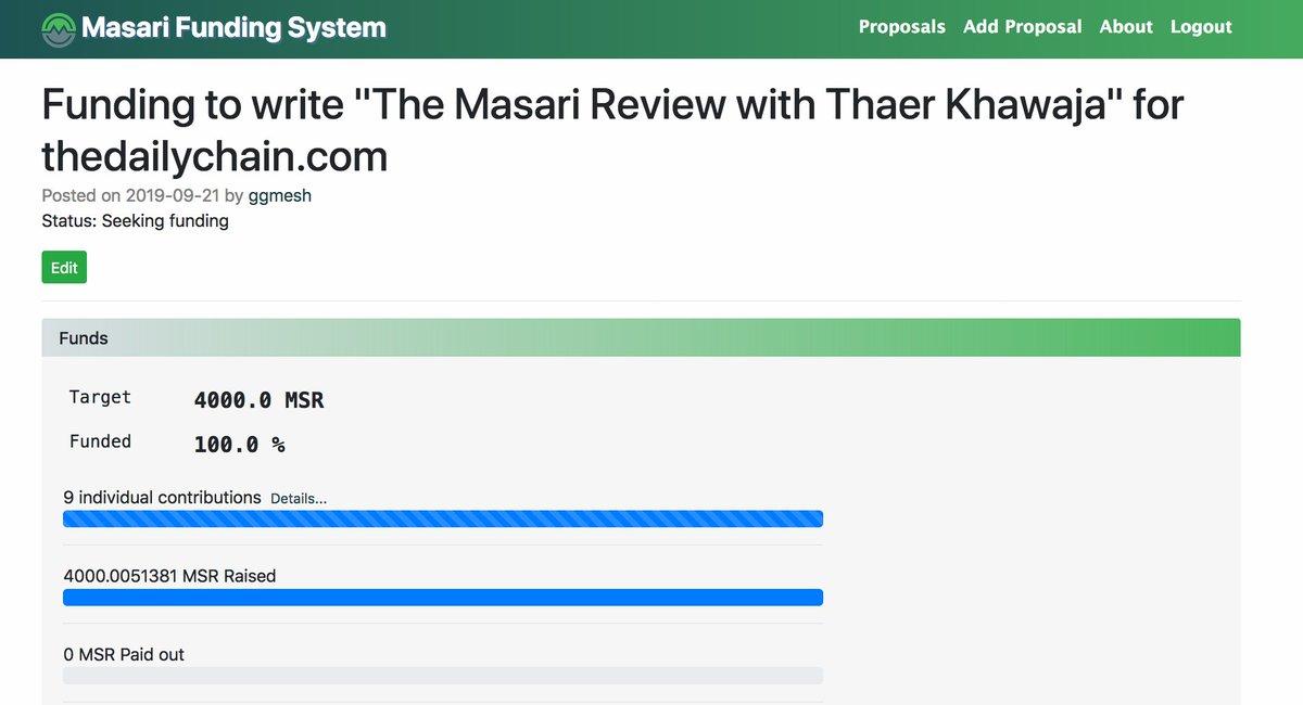We look forward to your article. Cheers! #MSR $MSR #Masari