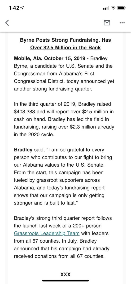 In #ALSen, Byrne raised $408K and has $2.5M COH. <br>http://pic.twitter.com/6RCppeaS2o