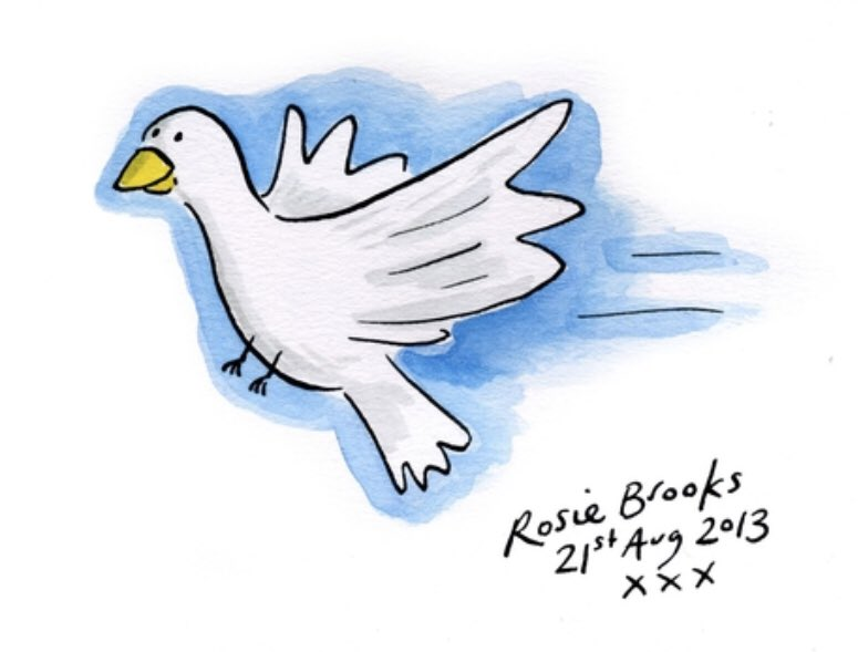 Doves For Peace 2 On Twitter Thanks Once Again Rosiebrookspics For Your Beautiful Dove 3 Days To Go You Can Now Bid Online To Own An Original Unique Artwork By The