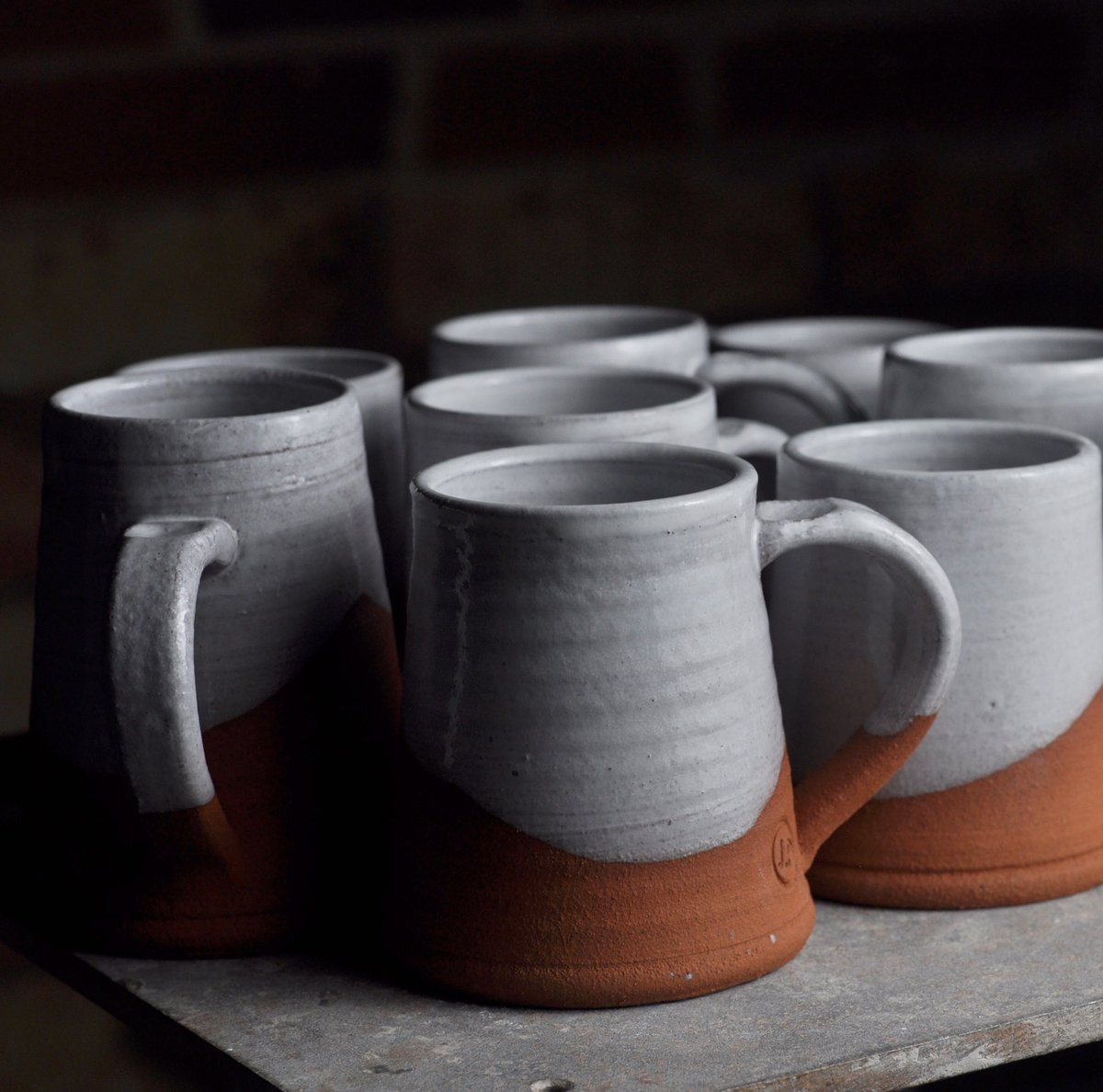 Mr Ps Pots On Twitter That Red Clay Maybe It S Not So Bad After All Chimney Mugs Potter Studiopottery Pottery Ceramic Madeinderbyshire Mug Clay Terracotta White Coffee