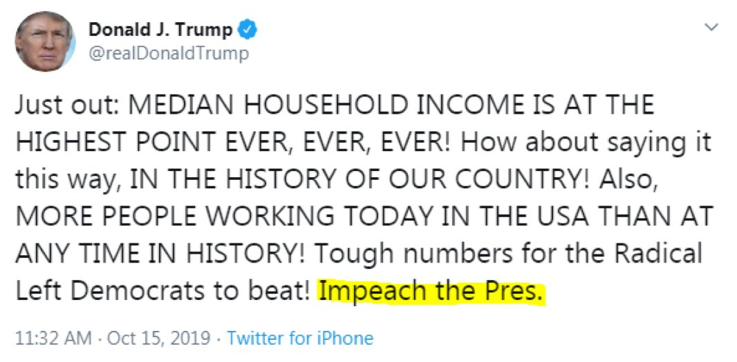 Today, I stand with the President. He's right. It's time to impeach him.