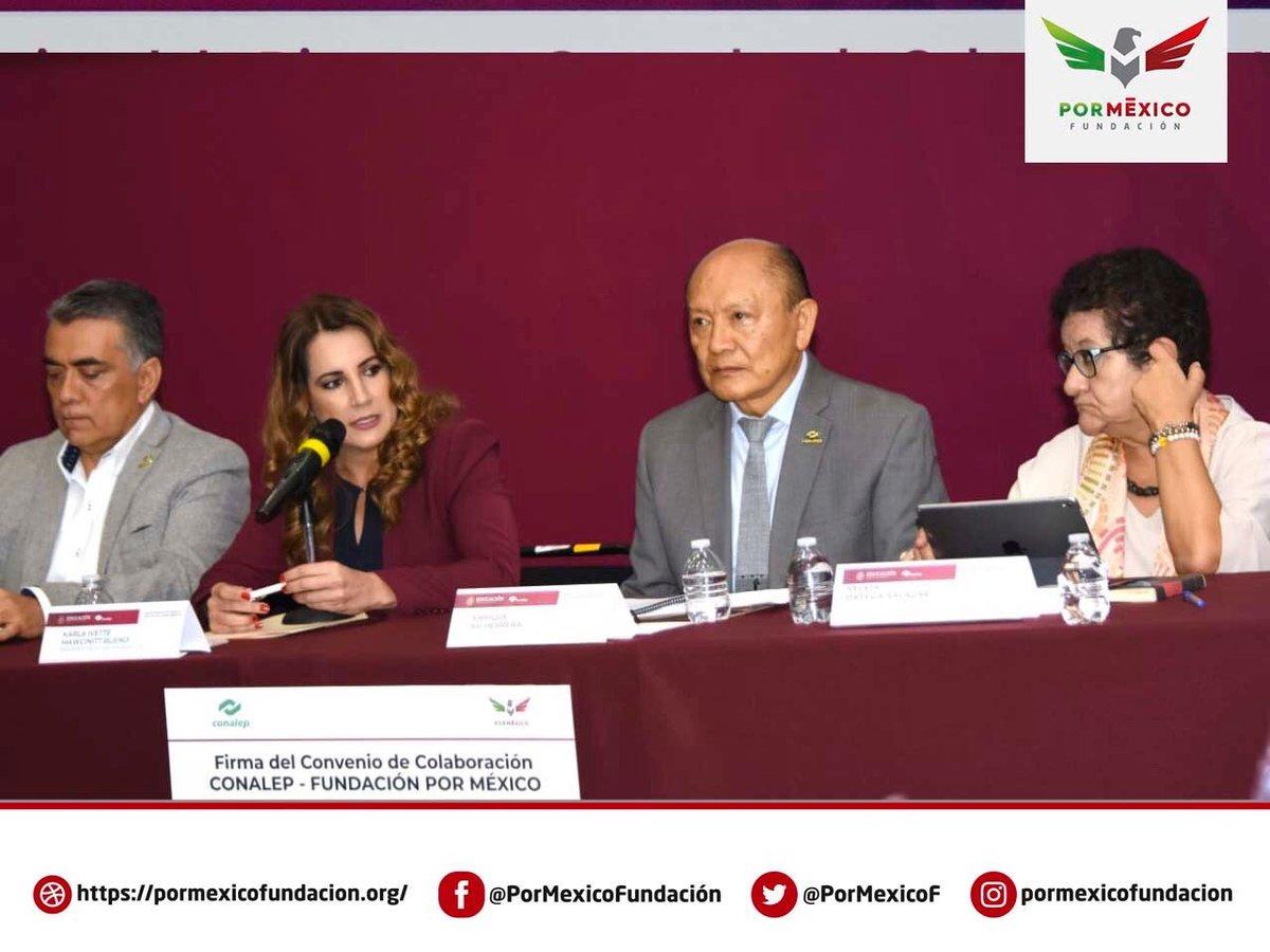 ¡Gracias al convenio de #FundaciónPorMéxico con #Conalep podemos ofertar #Alfabetización a nuestros beneficiarios, así como certificación de #EducaciónBásica, #AlfabetizaciónDigital, certificación de #CompetenciasLaborales y Preparatoria con carrera técnica!