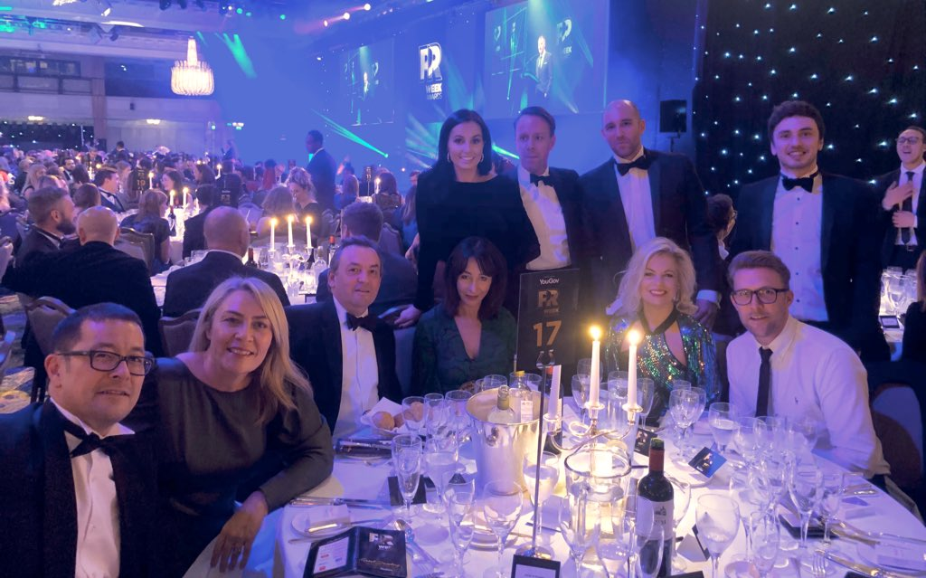 Fantastic to be shortlisted at tonight's #PRWeekAwards for our work with @thestarsgroup #dreamteam