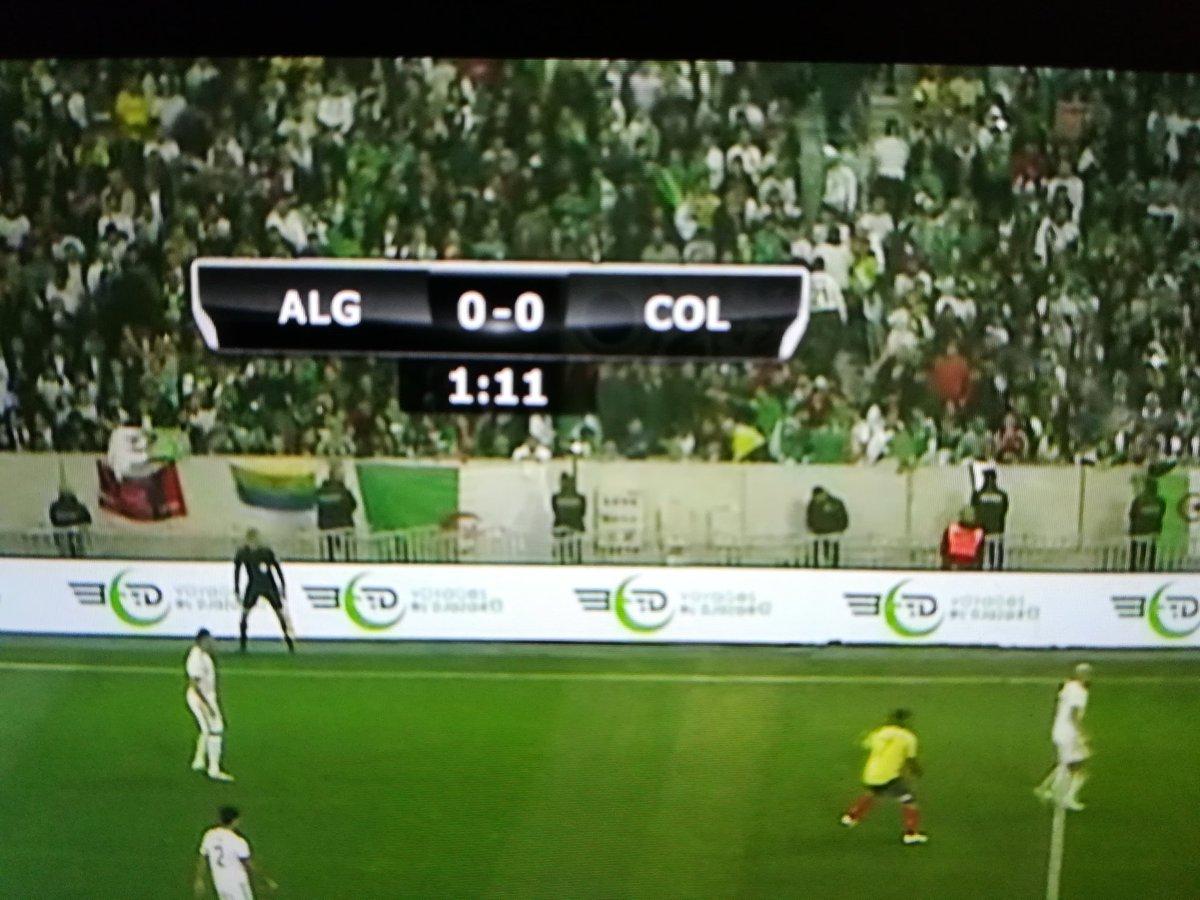c'est parti   #Algerie  -  #Colombie  #123VivaLAlgerie   #LesFennecs  #DZ  #lesverts #AlgerieColombie   #ALGCOL @JhonnyOscare  @foot_aime @DZfoot @Benzema @neliwalid @Nabil_djellit @Benzeminho_ @Khouiled10 @SmaBouabdellah  @LesVerts #Elkhadra<br>http://pic.twitter.com/WhQIeJxWRr