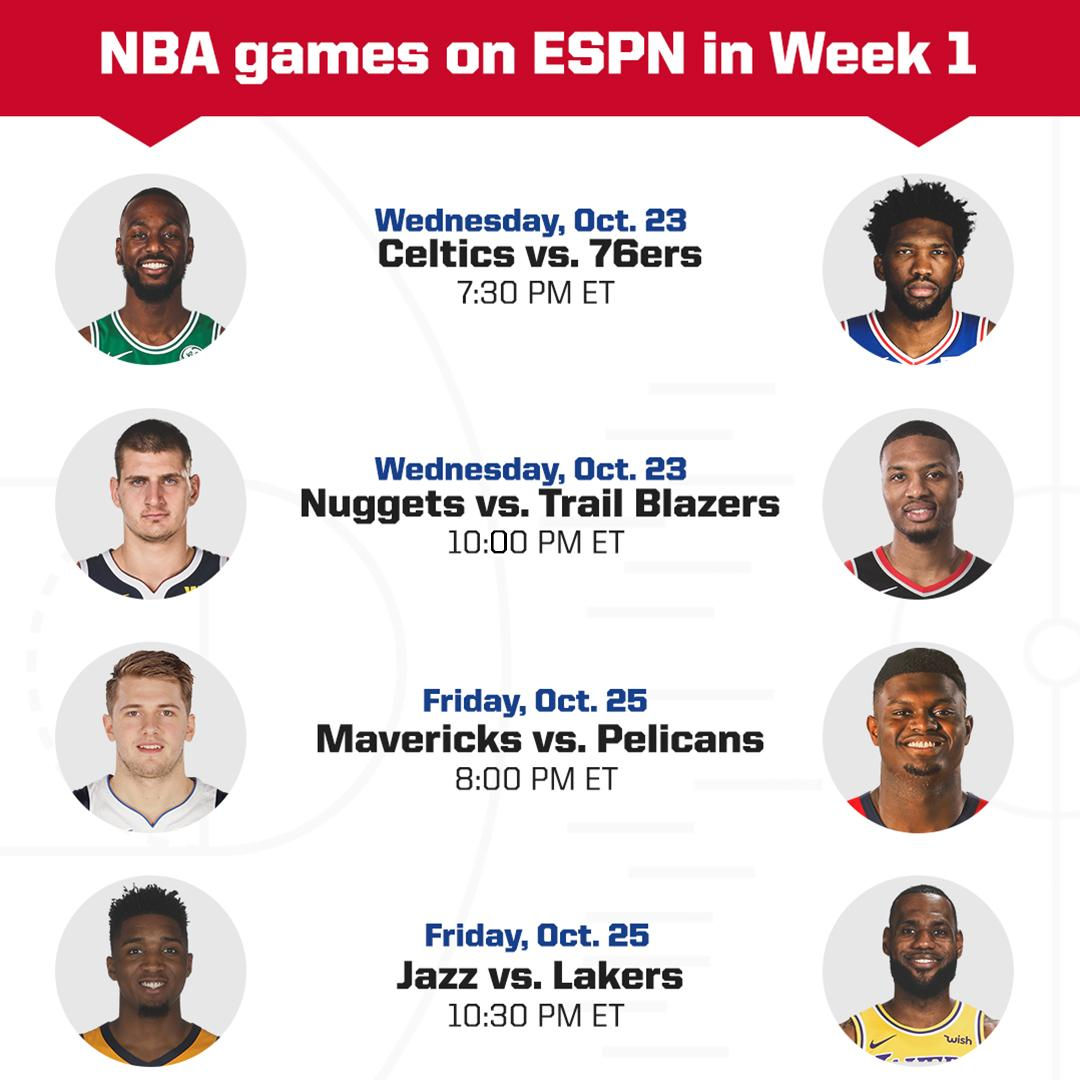 One week until the regular season starts!  We got some big games on ESPN next week 🍿