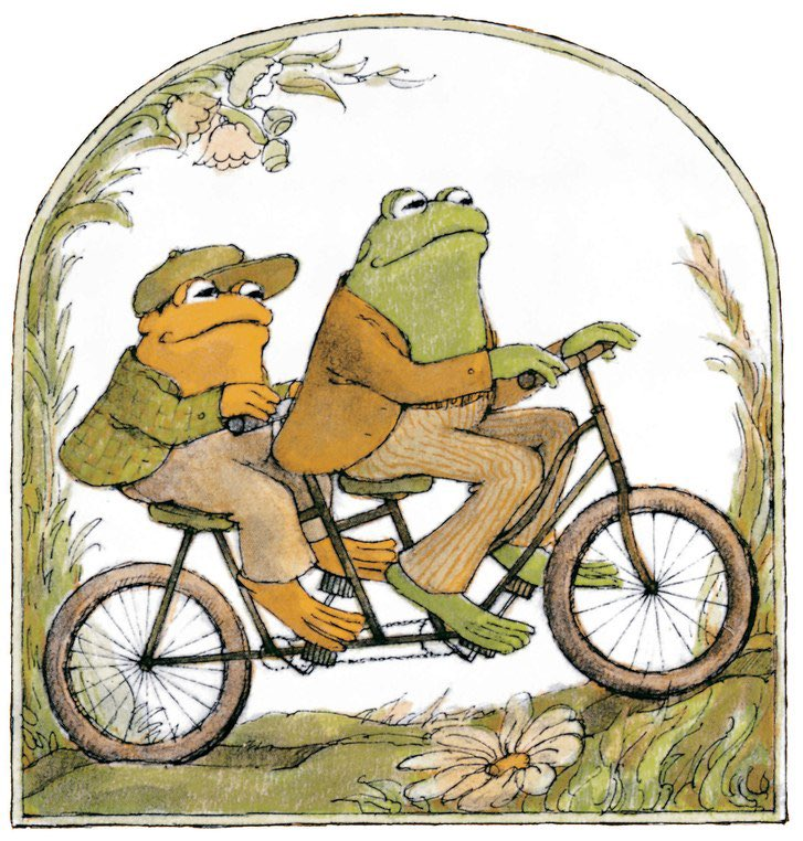 @jonnysun Should we dress up and cosplay as Frog and Toad including the tandem bike, yes or yes???
