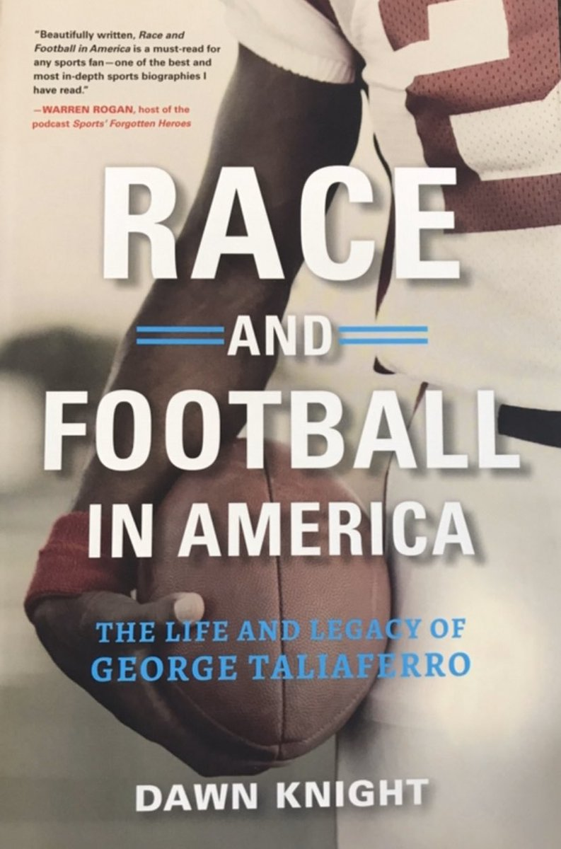 @mcuban  Fellow alum and NFL trailblazer George Taliaferro helped desegregate IU and the NFL. He overcame obstacles, like the violent death of his father and getting drafted into the Army. He knew Malcolm X, Joe Louis, Nat King Come....It's all in: Race and Football in America.