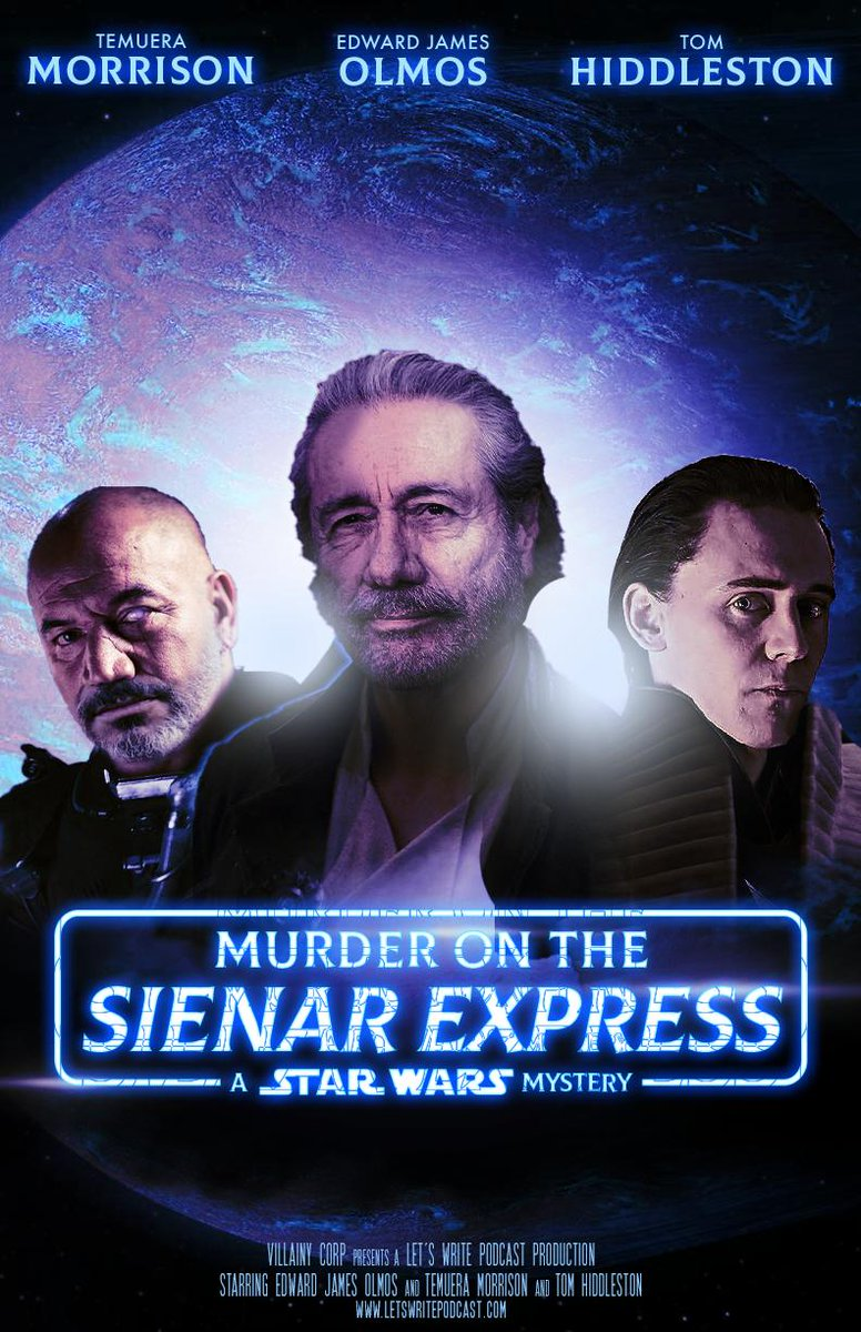50% Agatha Christie detective story, 50% Star Wars spin-off... 100% guaranteed to be a wild ride! Here's our first poster for Murder On The Sienar Express: A Star Wars MYSTERY.