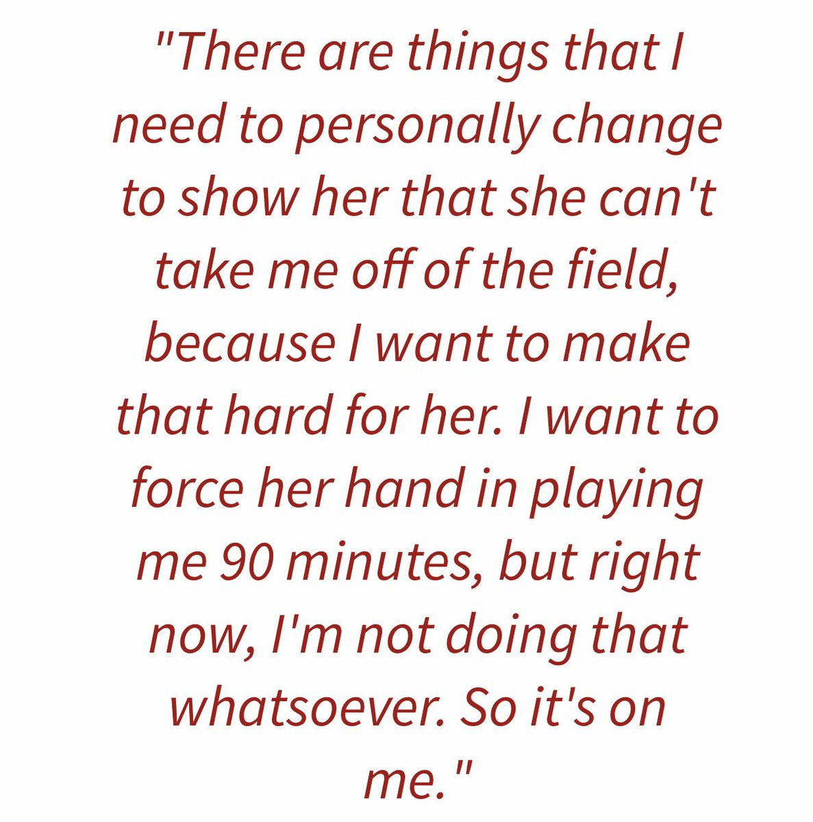 The difference is so stark. Quote 1 is from Alex in 2017 when she lost her starting spot. Then of course Quote 2 is from Carlos at being a bench player who played at all games in the WC. <br>http://pic.twitter.com/NI4FYUUMWv
