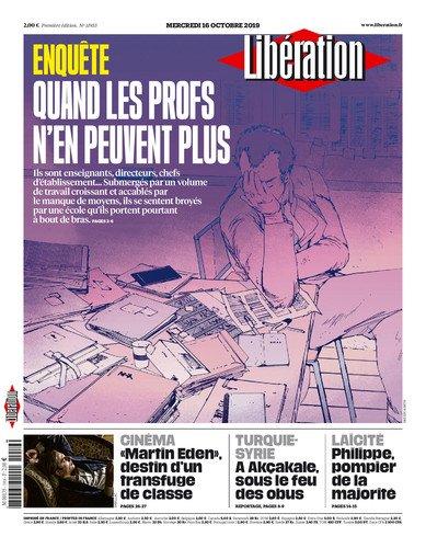 Jai illustré pour Libération un grand reportage sur le malaise des profs. Demain (mercredi 16) en kiosque 📰