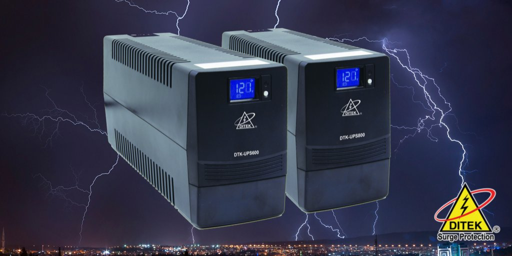 Dont risk losing valuable data during a #poweroutage. Ensure smooth system shutdown with DITEK Uninterruptible Power Supplies (UPS). Read our blog to learn more.  https://buff.ly/2McJ4pw