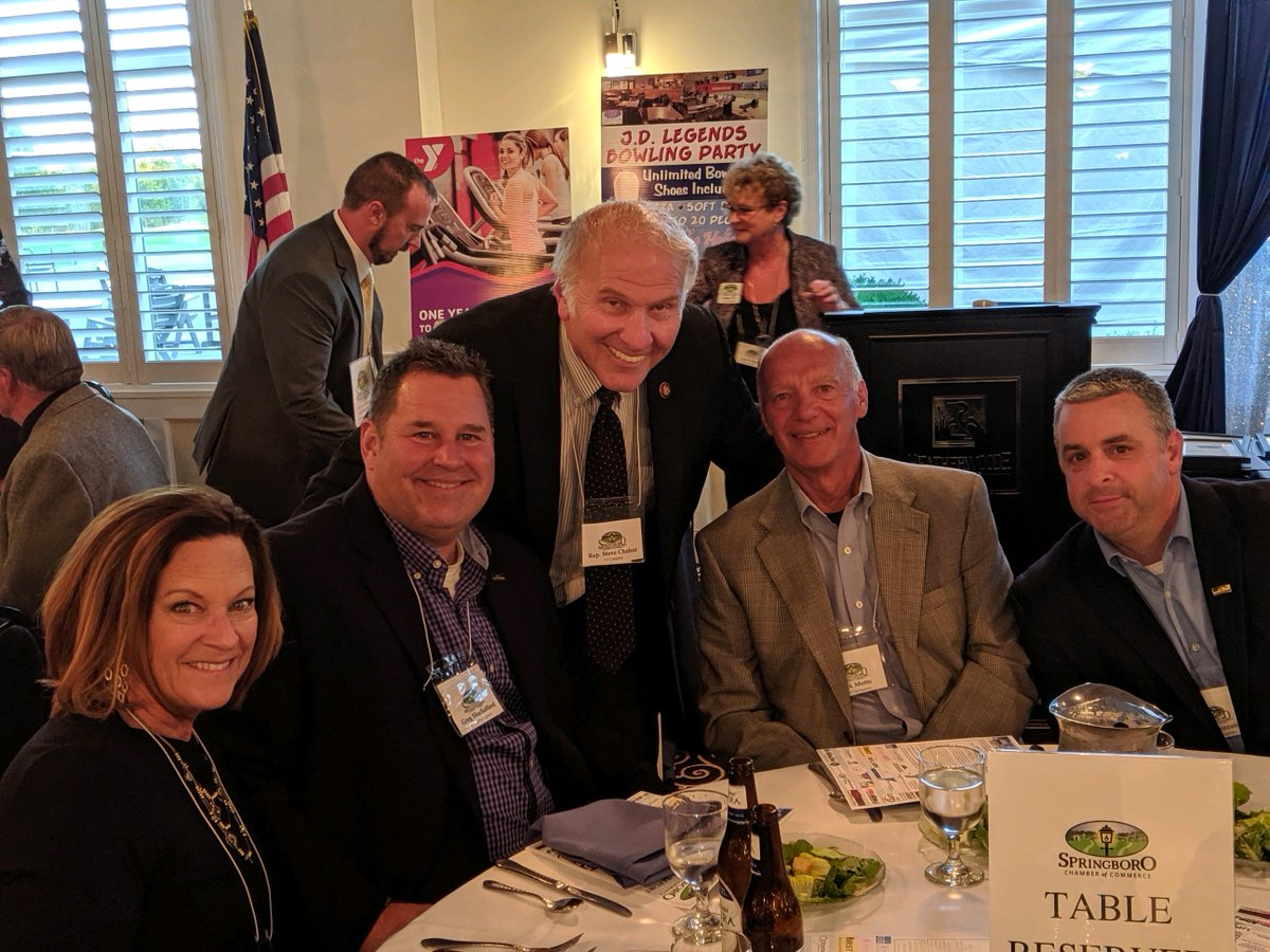 On Monday, I attended the Springboro Chamber's 44th Annual Gala Dinner where I presented the Business of the Year Award to Schmidt Auto Care. Congratulations to Schmidt Auto Care and all the honorees of the evening. Thank you all for everything that you do for the community.