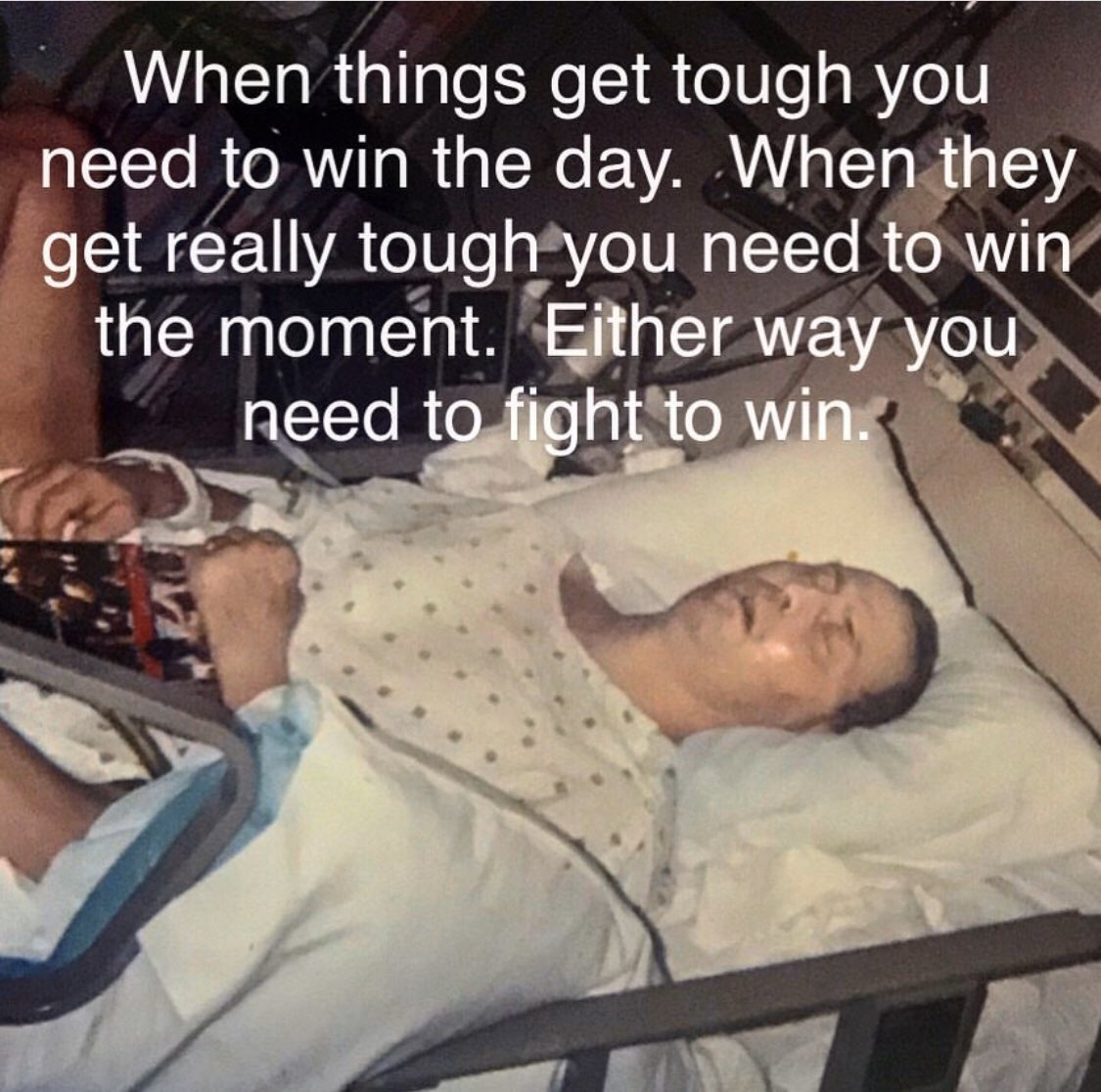 Never Give Up the Fight.  Life is a fight, fight back.  When fighting for your life you need to fight to win every moment, every tick of the clock is a championship round.  Some fights are big and some are small, either way a fight is a fight.  Make it a habit to fight to win! https://t.co/NxCl9Bu8sD