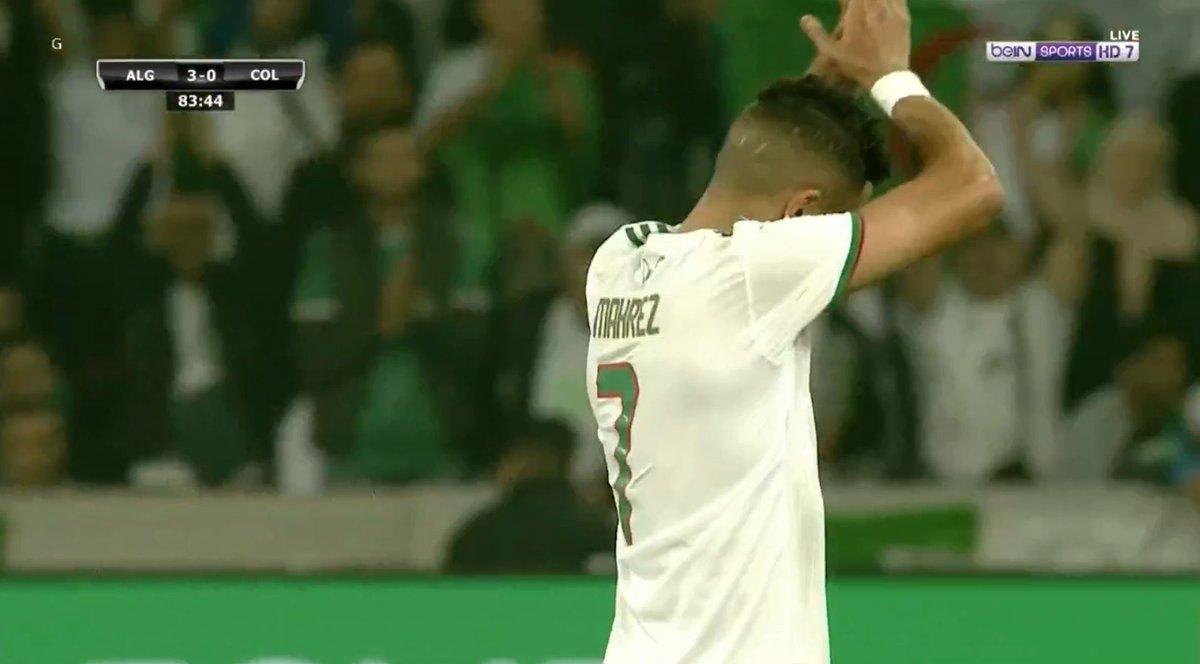 RT @DZfoot: 84' Sortie de Riyad Mahrez sous les applaudissements 👏 https://t.co/p50iitAtxh