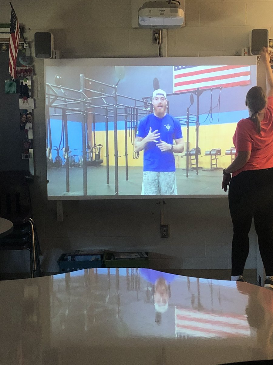 Just another day with @TeacherFit19 on the Smartboard! #FLHornets