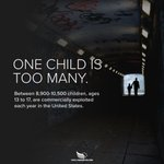 Image for the Tweet beginning: One child is too many.