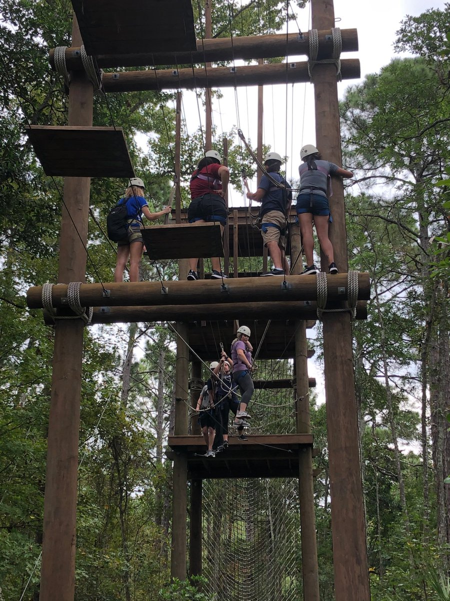 Amazing job by our MSAT students on the UNF ropes course today! #teamworkmakesthedreamwork @UNFEcoAdventure<br>http://pic.twitter.com/LgknBOEdb2