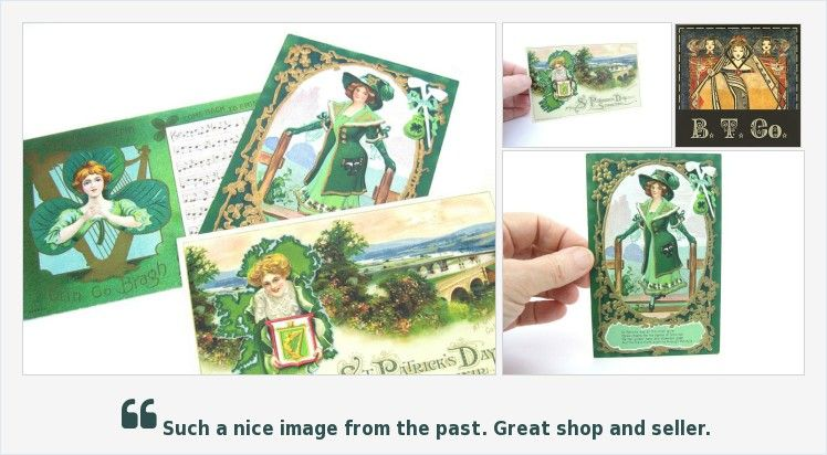 St Patrick's Day #Postcards, Pretty #Irish #Women & Romantic Song w/ Lyrics, #Souvenir Lot of 3, #Antique #Collectibles #vintage #collecting #vogueteam #fashion #etsy #etsymntt #etsychaching #etsyhome #smallbiz #StPatricks https://buff.ly/2Bif4C0