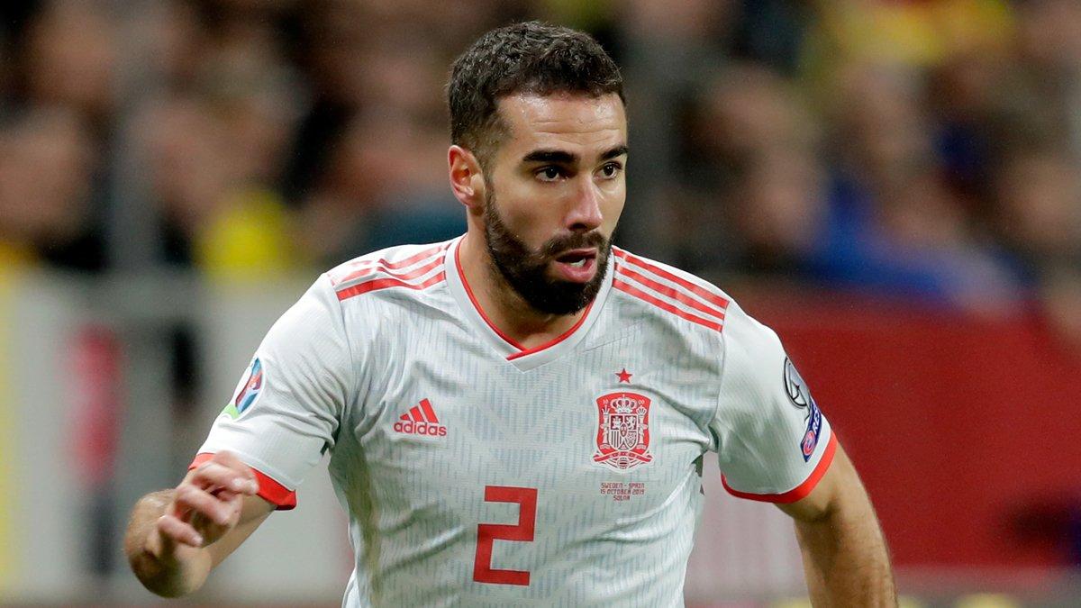 💪 @DaniCarvajal92 a disputé 81 minutes du nul face à la Suède (1-1), qui a qualifié l'Espagne pour l'#Euro2020.