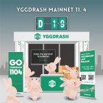 Image for the Tweet beginning: 🚀YGGDRASH MainNet D-19🚀  Join the airdrop